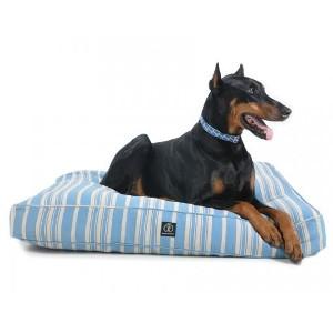 Harry Barker Classic Stripe Rectangle Dog Bed Blue