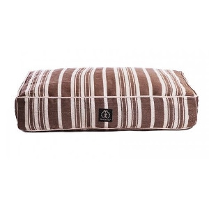 Harry Barker Classic Stripe Rectangle Dog Bed Brown