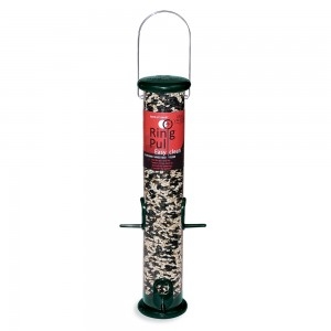 Droll Yankees Ring Pull 15″ Forest Green Sunflower/Mixed Seed Feeder