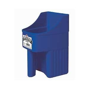 Enclosed Feed Scoop 3qt Blue