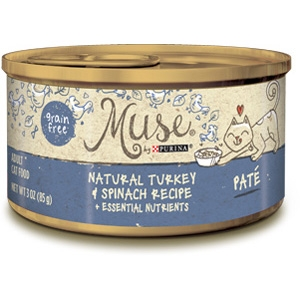 Purina® Muse® Natural Turkey & Spinach Recipe Cat Food in Pate- 10% OFF