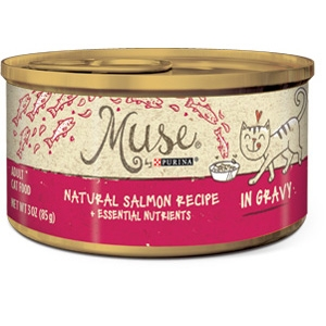 Purina® Muse® Natural Salmon Recipe Cat Food in Gravy- 10% OFF