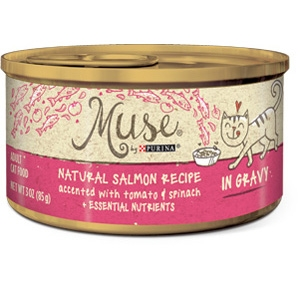 Purina® Muse® Natural Salmon, Tomato and Spinach Recipe Cat Food in Gravy- 10% OFF