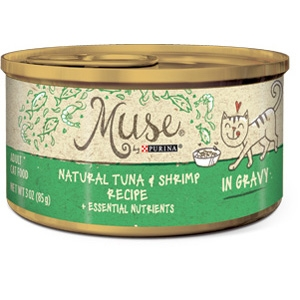 Purina® Muse® Natural Tuna and Shrimp Recipe Cat Food in Gravy- 10% OFF