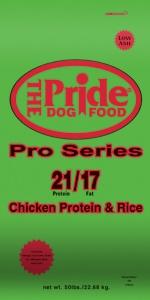 Pride 21/17 Pro Series Dog Food, 50 pound bag