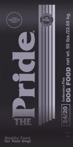 Pride 24/20 Endurance Plus Formula Dog Food, 50 pound bag