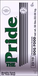Pride 22/10 Maintenance Formula Dog Food, 50 pound bag