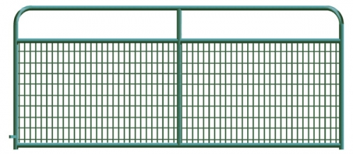 Black and Green Wire Gates