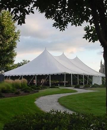 Pole Tent 60'x 60' white installed