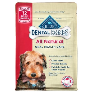 Blue Dental Bones Dog Treats Regular Size