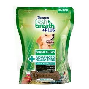 Tropiclean Fresh Breath Plus Dental Chews Advanced Cleaning System Formula