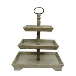 Three Tier Rustic Wood Stand