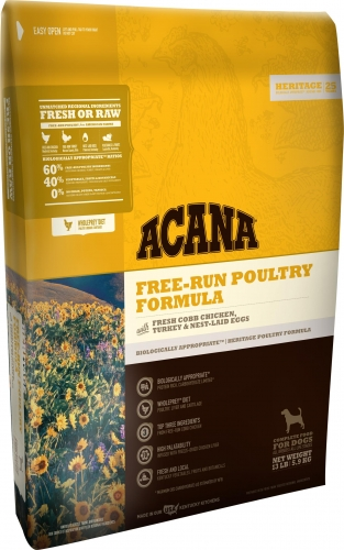 Acana Heritage Free-Run Poultry Formula 25lb