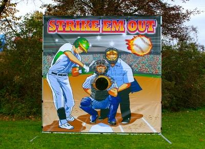 Baseball Toss - Strike 'Em Out Game