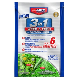 3-In-1 Weed & Feed For Southern Lawns