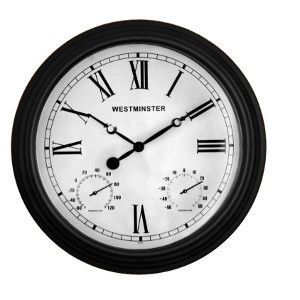 Luster Leaf Outdoor Clock and Thermometer