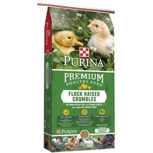 Purina Flock Raiser Crumbles Chicken Feed