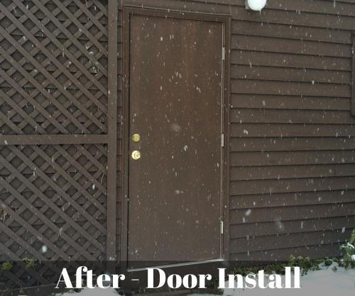 After Door Installation
