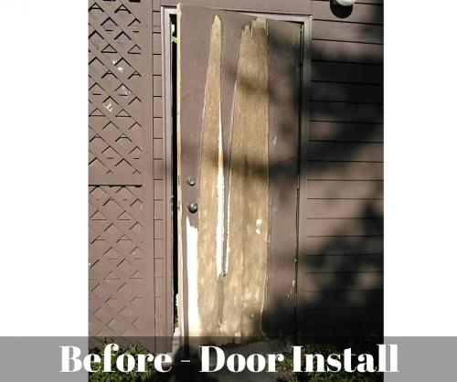 Before Door Installation