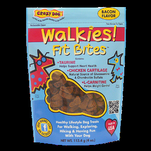 Crazy Dog Walkies Fit Bites - Bacon