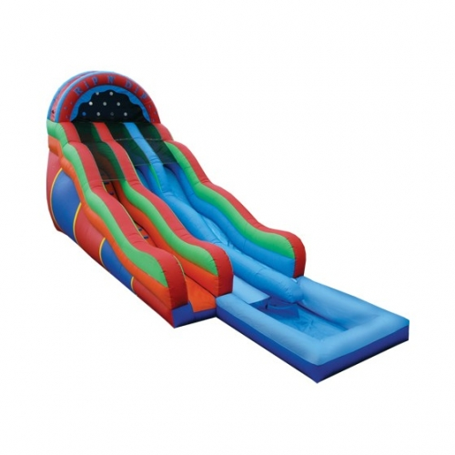 Inflatable Rip & Dip Dual Water Slide with Pool