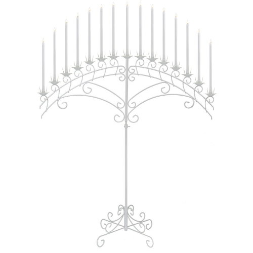15-Light Fan Floor Candelabra