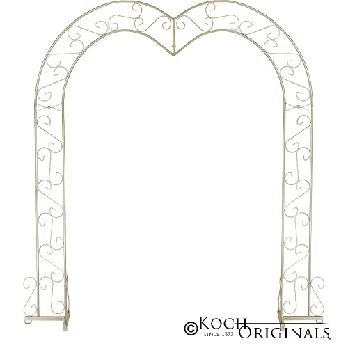 Heart Wedding Arch - Brass