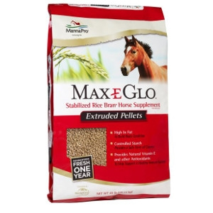 Max-E-Glo Stabilized Rice Bran Horse Supplement Extruded pellets