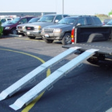 8' Aluminum Folding Ramp, Pair