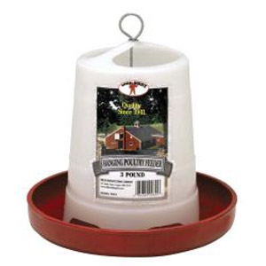 Little Giant® 3 Pound Plastic Hanging Poultry Feeder