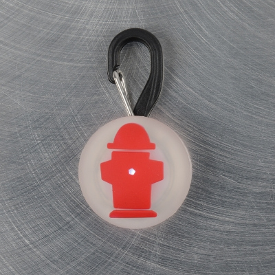 PetLit Red Hydrant Twist on LED Collar Light