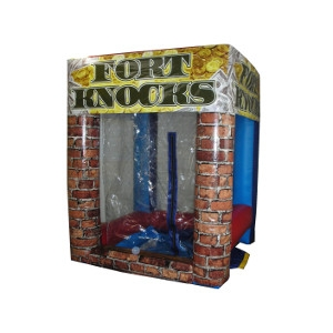 Inflatable Fort Knocks Cash Machine