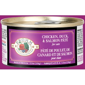 Fromm Four Star Chicken, Duck, & Salmon Pâté Can Cat Food