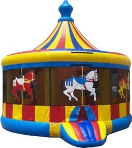 Spacewalk Carousel Moonwalk Bounce House