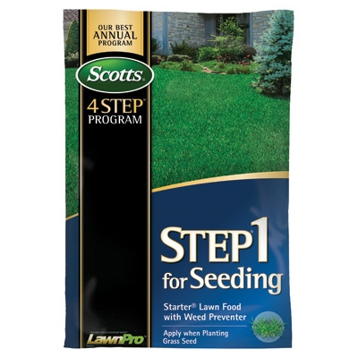 Scotts Step 1 Starter Lawn Food with Weed Preventer