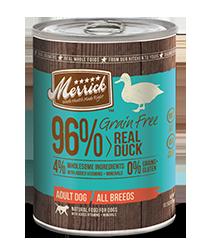 Merrick 96% Grain Free Real Duck Canned Dog Food