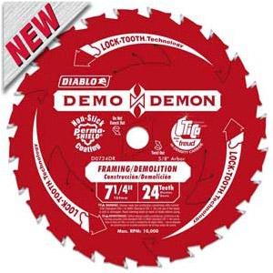 Diablo Demon 7-1/4'' Circular Saw Framing/Demolition Blade