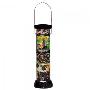 Droll Yankees Onyx Clever Clean 12 Inch Sunflower/Mixed Seed Feeder