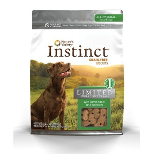 Nature's Variety Instinct Limited Ingredient Treat Lamb & Spinach Biscuits