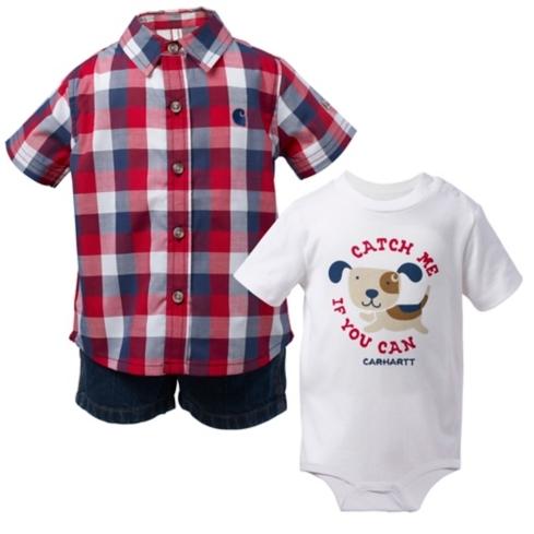 Infant/Toddler Carhartt 3pc Gift Short Set