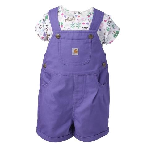 Infant/Toddler Canvas Shortall Set
