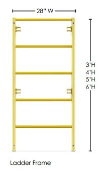 Scaffold Ladder Frame 5' h x 28
