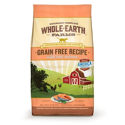 Whole Earth Farms Grain Free Salmon Dry Cat Food, 5 lbs