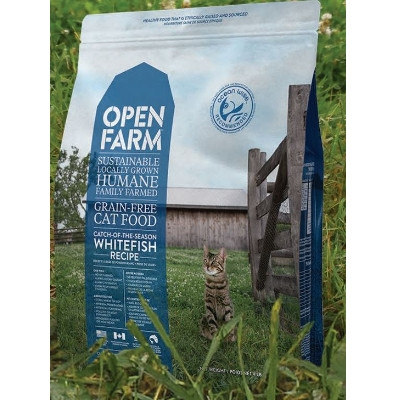 Open Farm Grain Free Catch of the Season Whitefish Dry Cat Food, 4 lbs