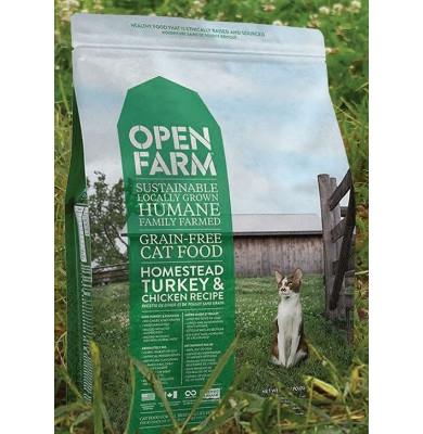 Open Farm Grain Free Homestead Turkey & Chicken Dry Cat Food, 4 lbs