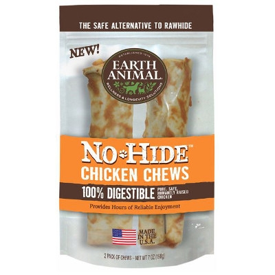 Earth Animal No Hide Chicken Chews Dog Treats, 7 in. 2-pack