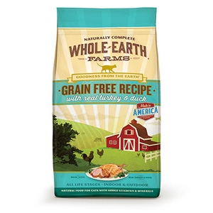 Whole Earth Farms Grain Free Turkey & Duck Dry Cat Food