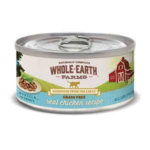 Whole Earth Farms Grain Free Chicken Morsels in Gravy Cat Food