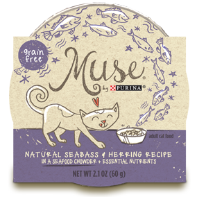 Muse by Purina: Natural Seabass & Herring Recipe in Chowder Cat Food