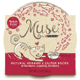 Muse by Purina: Natural Herring & Salmon Recipe in Broth Cat Food